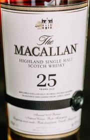 Виски односолодовый The Macallan 25 Year Sherry Oak, wooden box 0.7 л