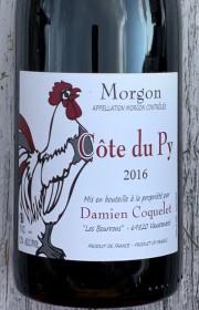 Вино Damien Coquelet Morgon Côte du Py, 2016 красное сухое 2016